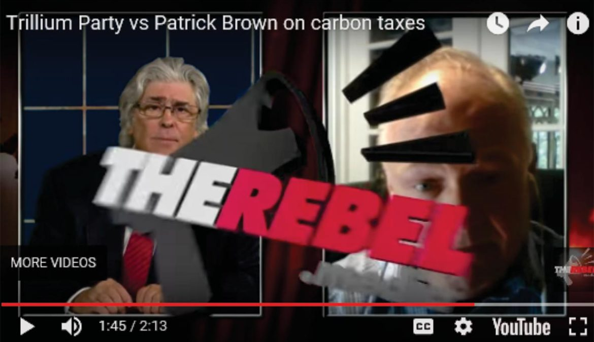 Trillium Party vs Patrick Brown on carbon taxes