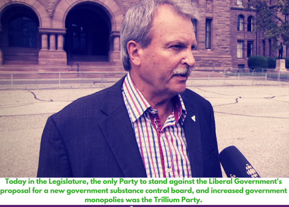 Trillium MPP Jack MacLaren speaks on Cannabis Distribution Bill 174