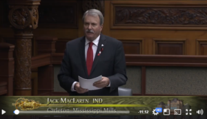 Jack MacLaren in the Ontario Legislature