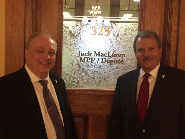 Come out to Support Bob Yaciuk and Jack MacLaren on Thursday, February 22nd at Queen's Park