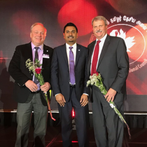 Trillium Party attended Tamil Recognition Awards Gala L-R: Bob Yaciuk, Amit Pitamber, Jack MacLaren