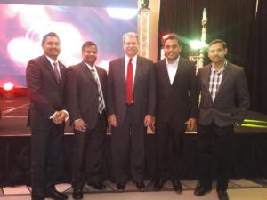 L-R: Amit Pitamber, Jahnni, Jack MacLaren, Shan Sahathevan, Vel Velauthapillai