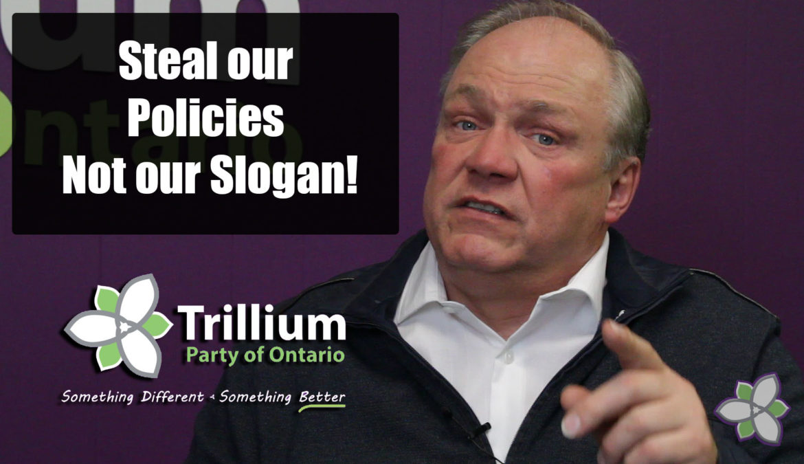 Steal our Policies, don't steal our Slogan!