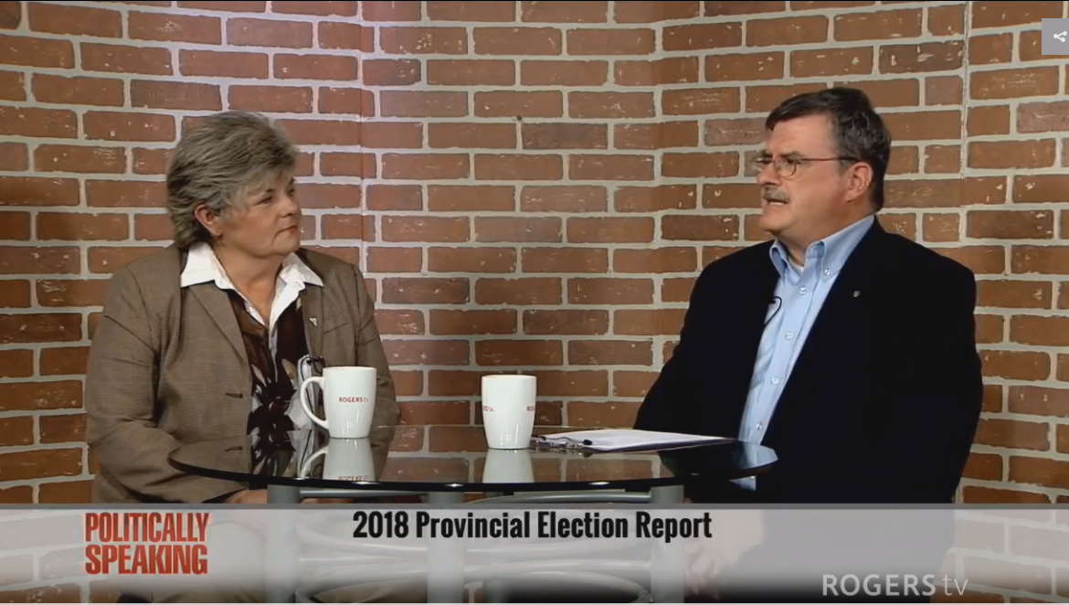 Liz Marshall talks Trillium Politics on Rogers TV